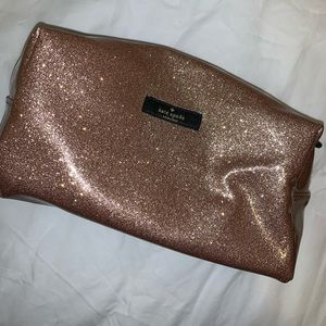 Kate Spade Gold Glitter Toiletry Bag